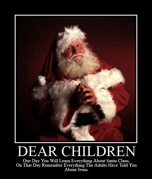 Debunking Santa Is Just Practice for God